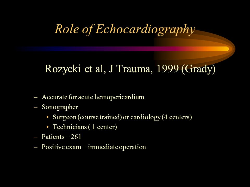 Role of Echocardiography
