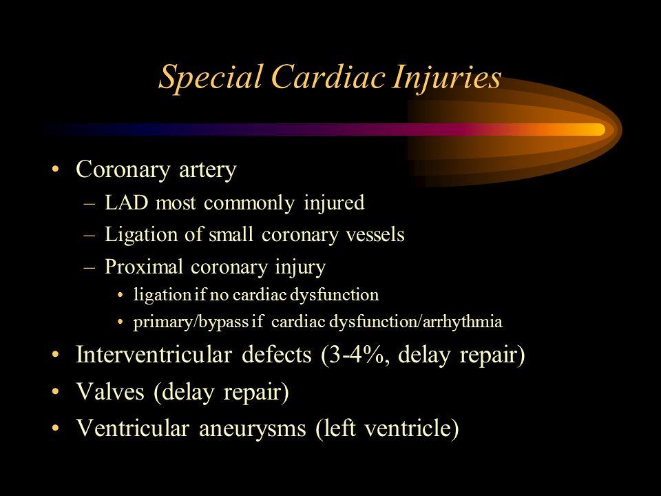 Special Cardiac Injuries