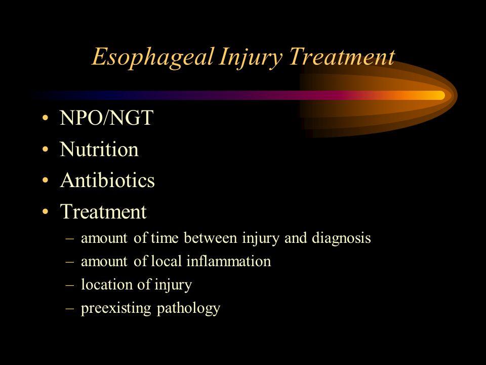 Esophageal Injury Treatment