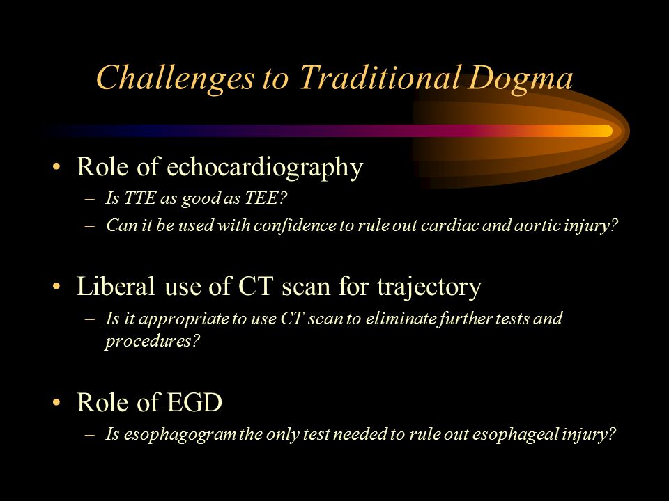 Challenges to Traditional Dogma