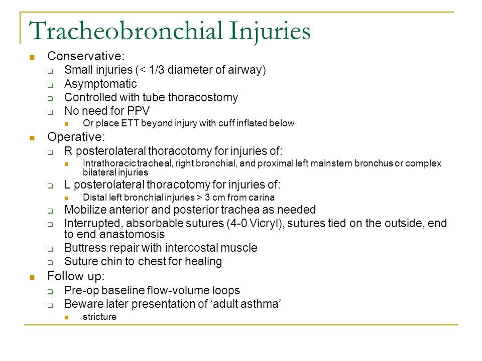 Tracheobronchial Injuries