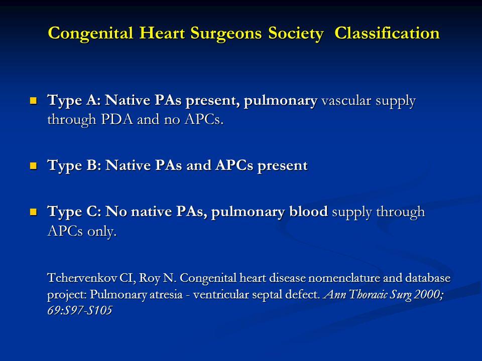 Congenital Heart Surgeons Society Classification