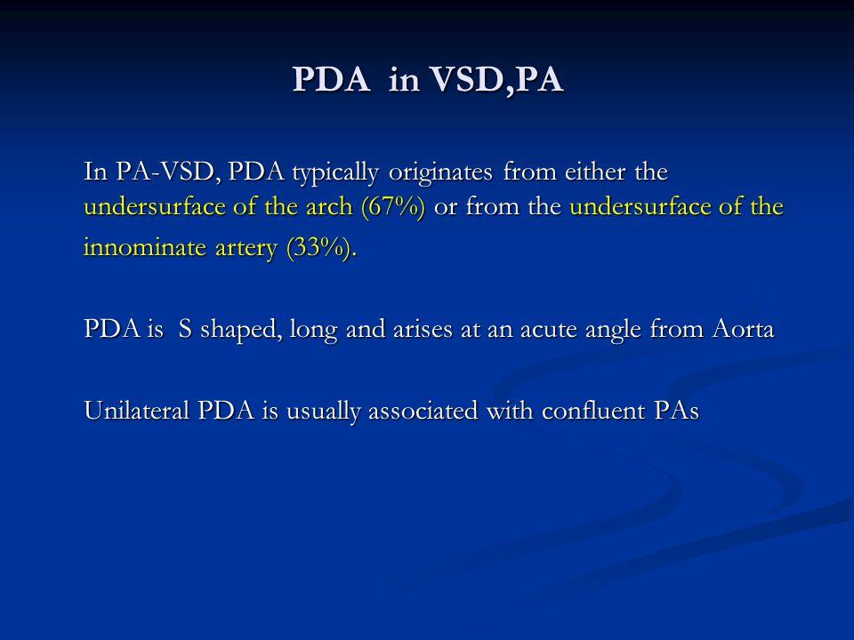 PDA in VSD,PA