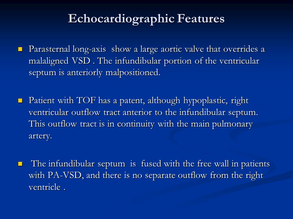 Echocardiographic Features