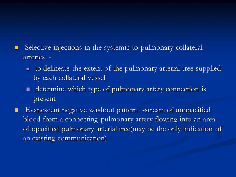 determine which type of pulmonary artery connection is present