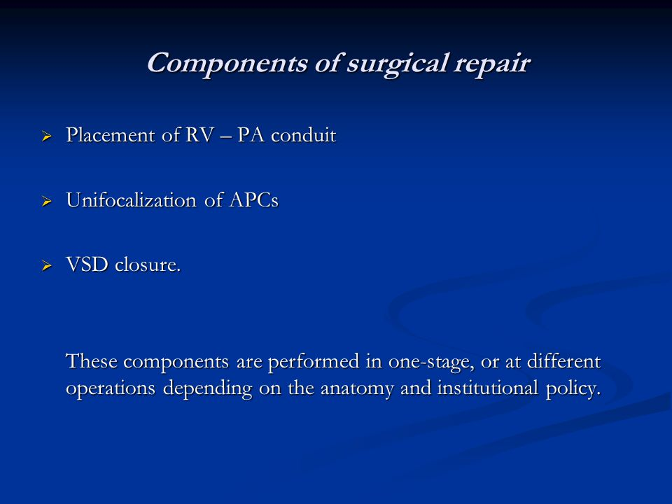 Components of surgical repair