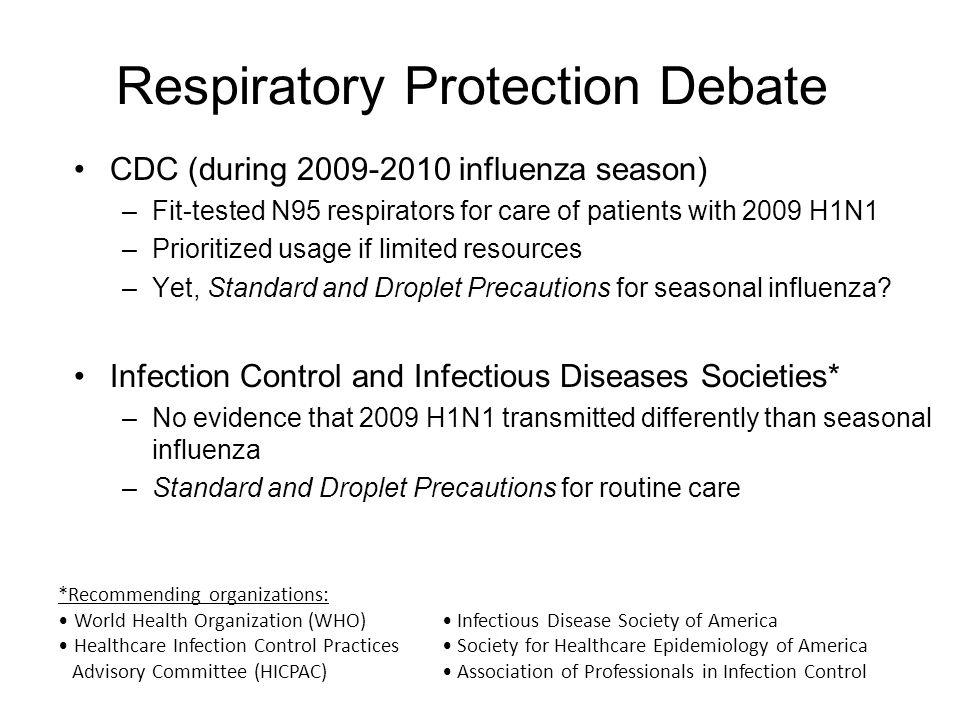Respiratory Protection Debate