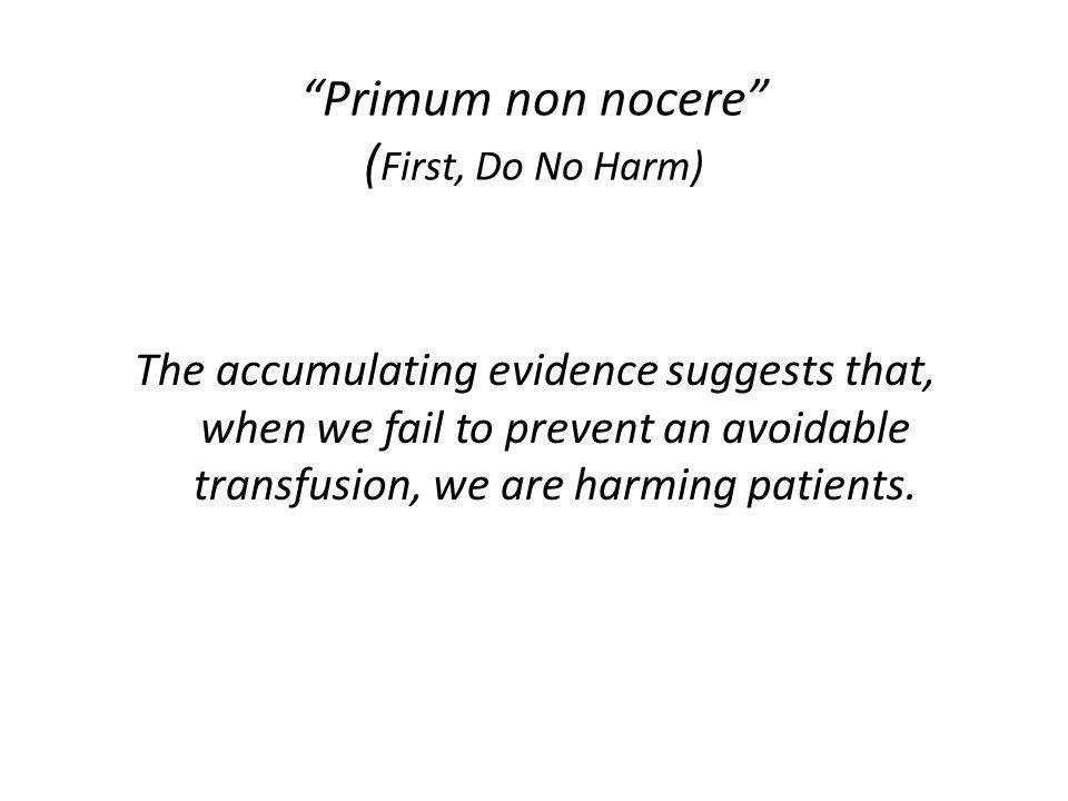 Primum non nocere (First, Do No Harm)