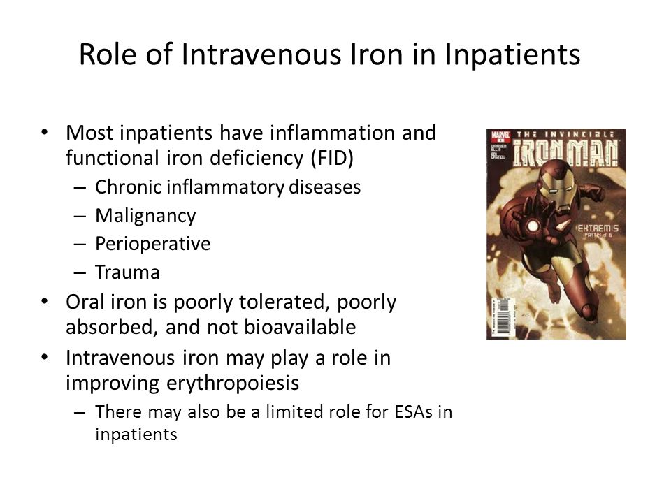 Role of Intravenous Iron in Inpatients