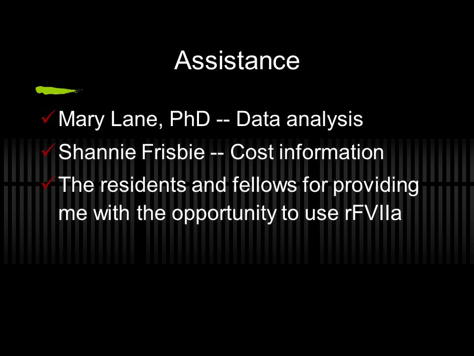 Assistance Mary Lane, PhD -- Data analysis
