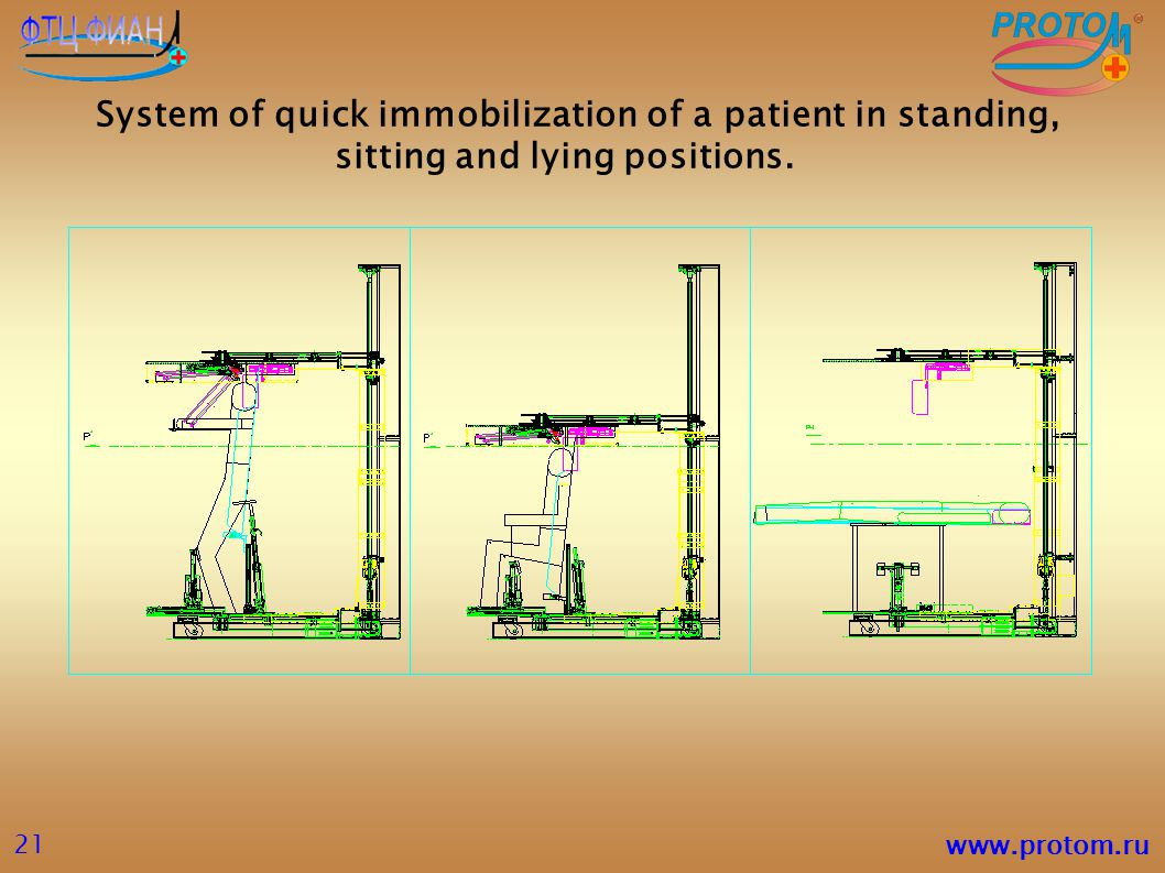 System of quick immobilization of a patient in standing, sitting and lying positions.