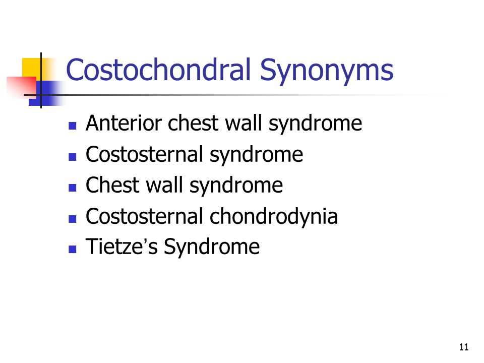 Costochondral Synonyms