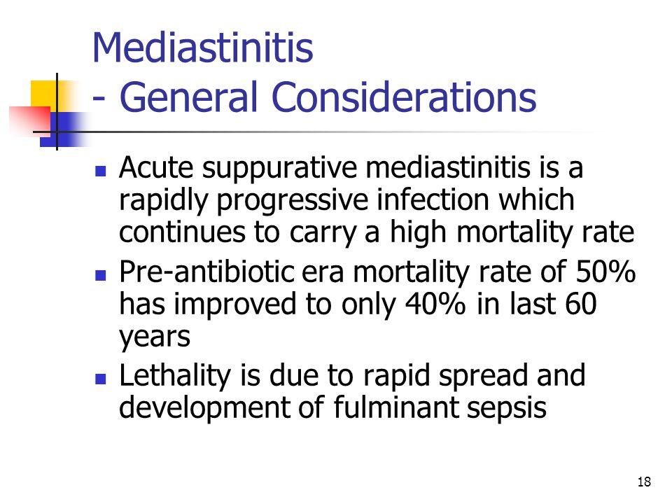 Mediastinitis - General Considerations