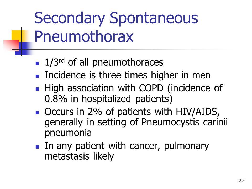 Secondary Spontaneous Pneumothorax