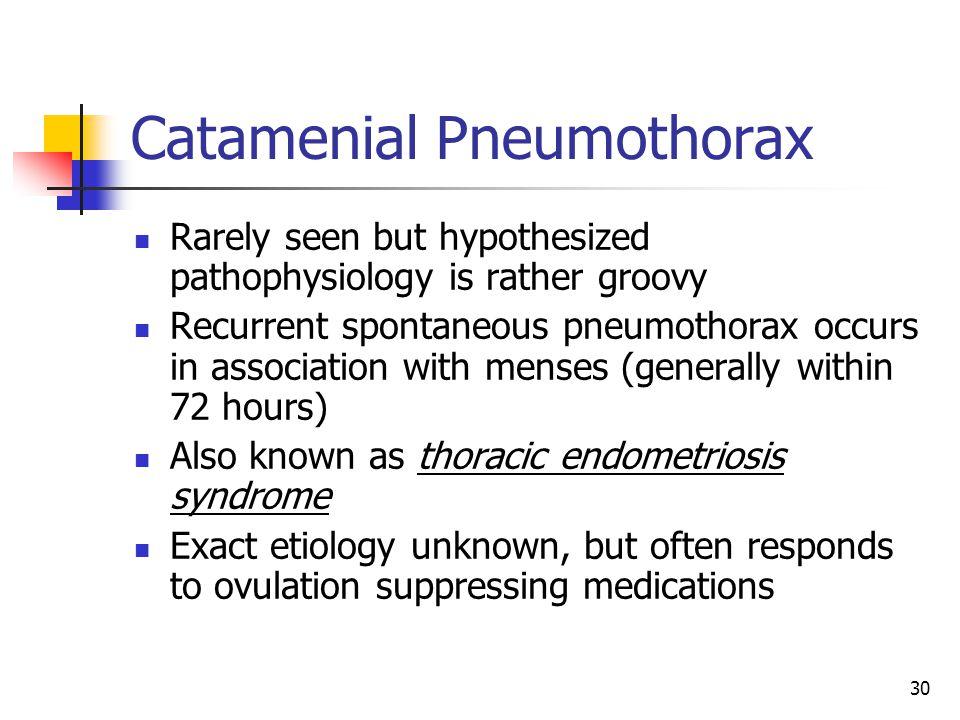 Catamenial Pneumothorax