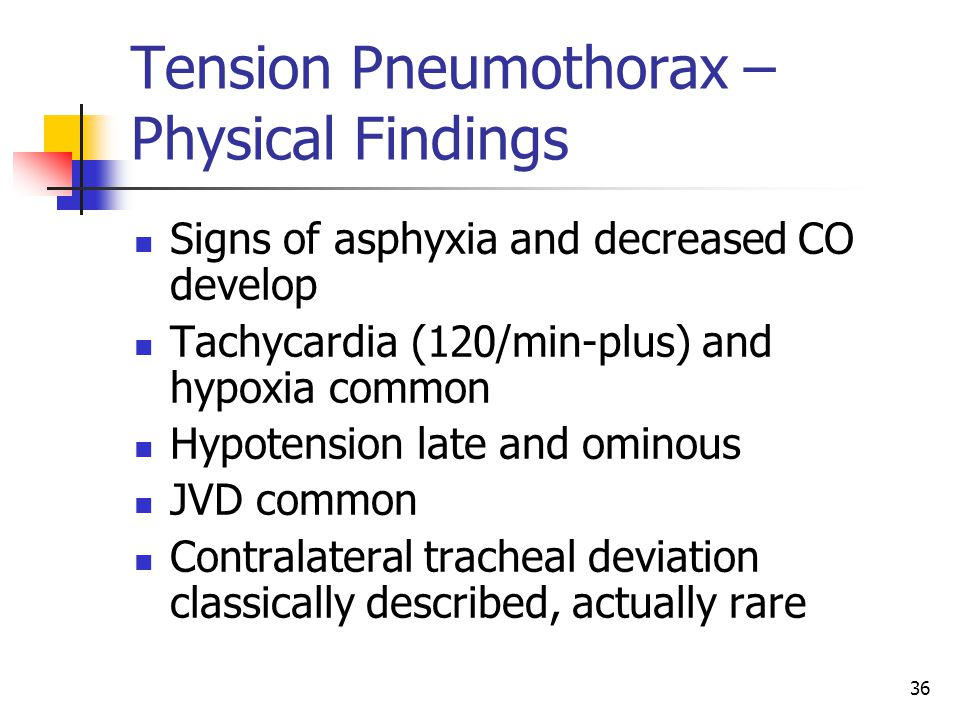 Tension Pneumothorax – Physical Findings