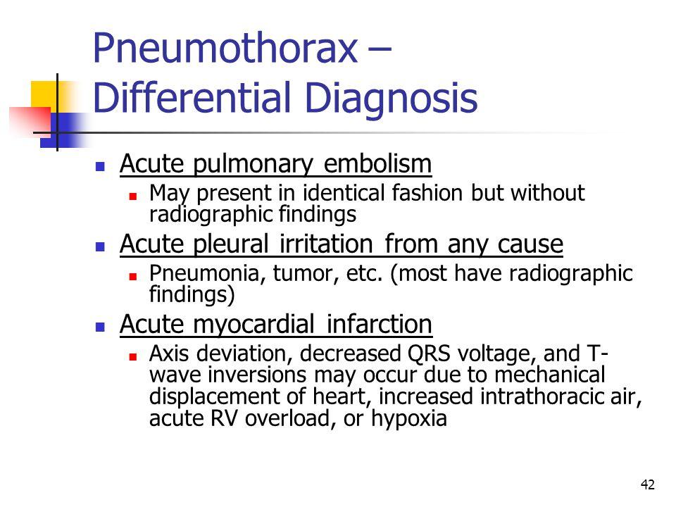 Pneumothorax – Differential Diagnosis