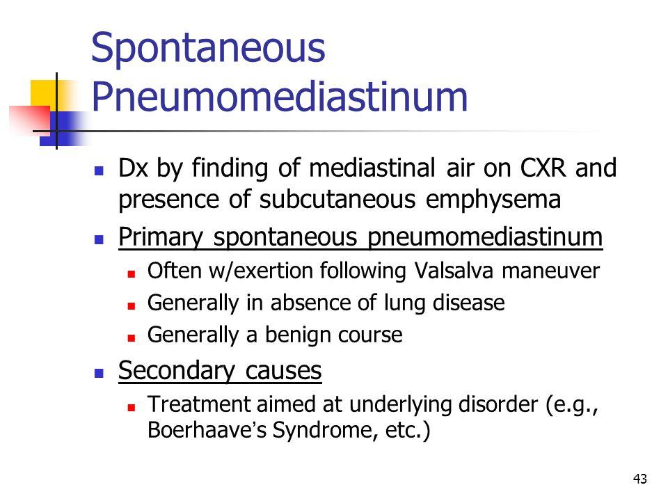 Spontaneous Pneumomediastinum