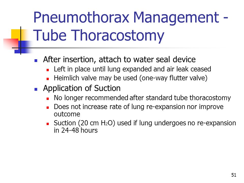 Pneumothorax Management - Tube Thoracostomy