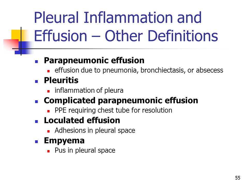 Pleural Inflammation and Effusion – Other Definitions