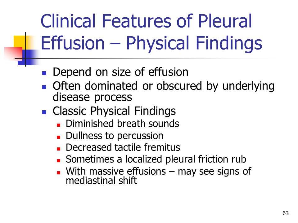 Clinical Features of Pleural Effusion – Physical Findings