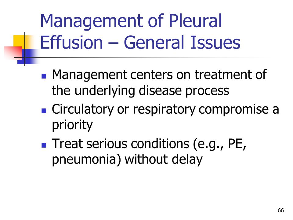 Management of Pleural Effusion – General Issues