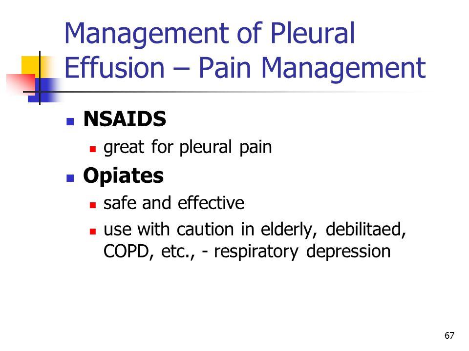 Management of Pleural Effusion – Pain Management