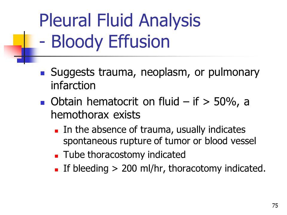 Pleural Fluid Analysis - Bloody Effusion