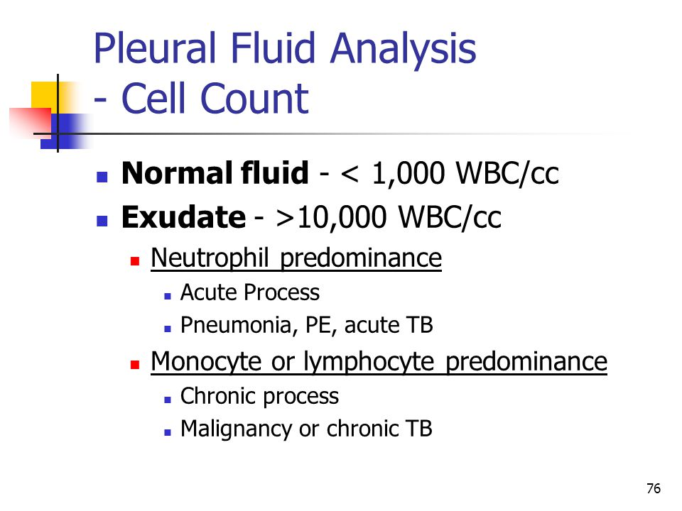 Pleural Fluid Analysis - Cell Count