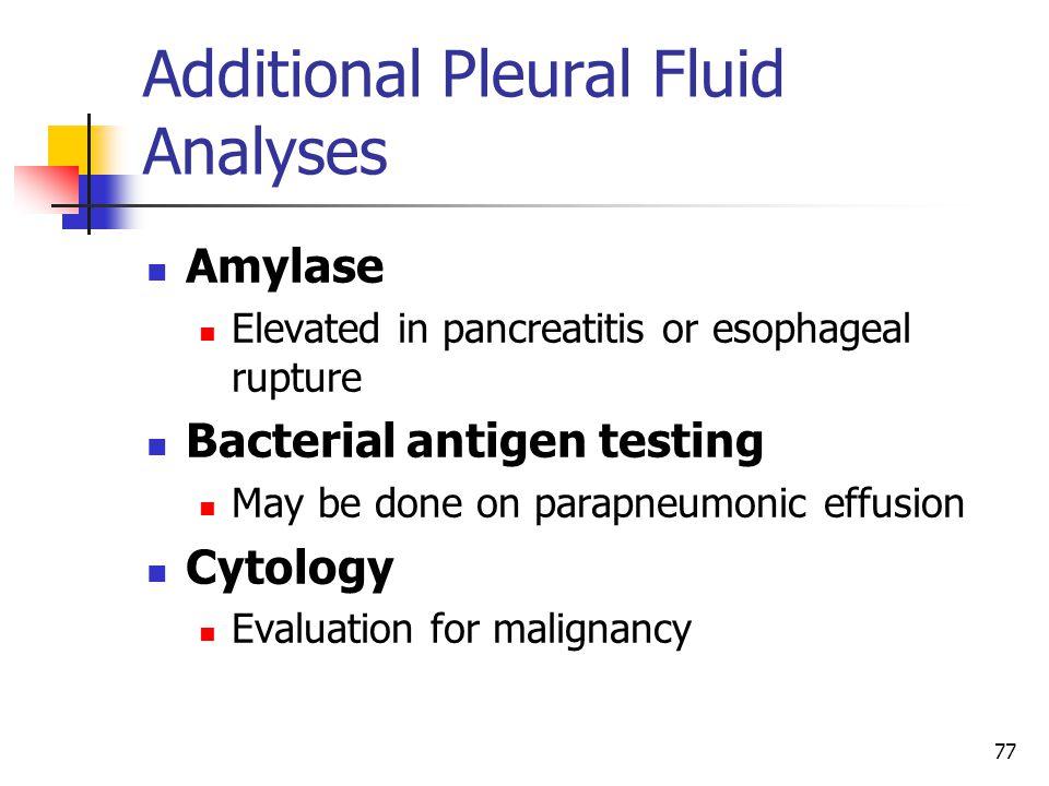 Additional Pleural Fluid Analyses
