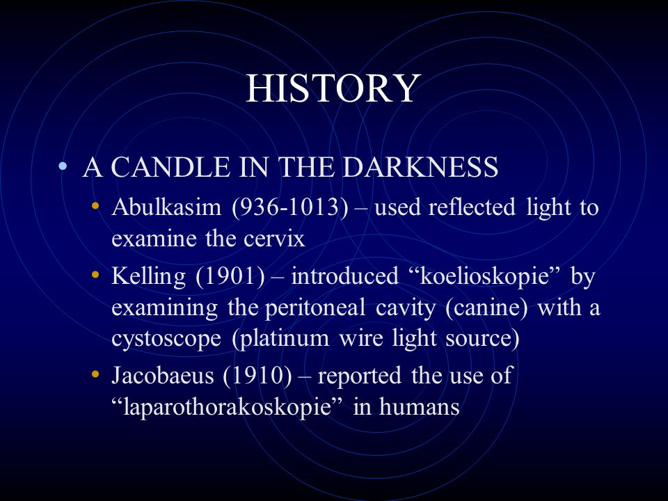 HISTORY A CANDLE IN THE DARKNESS