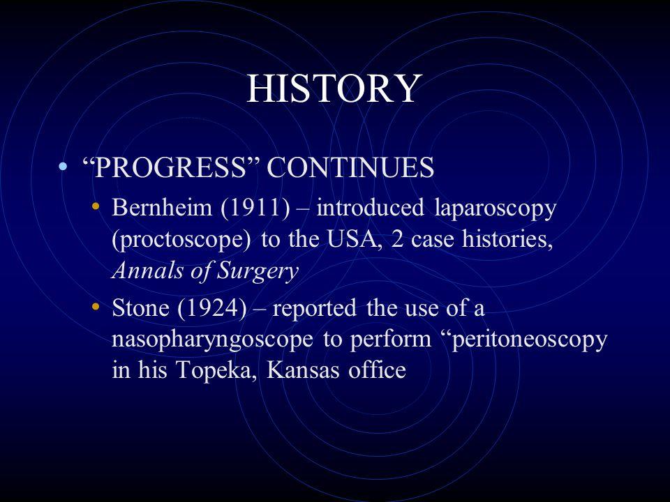 HISTORY PROGRESS CONTINUES