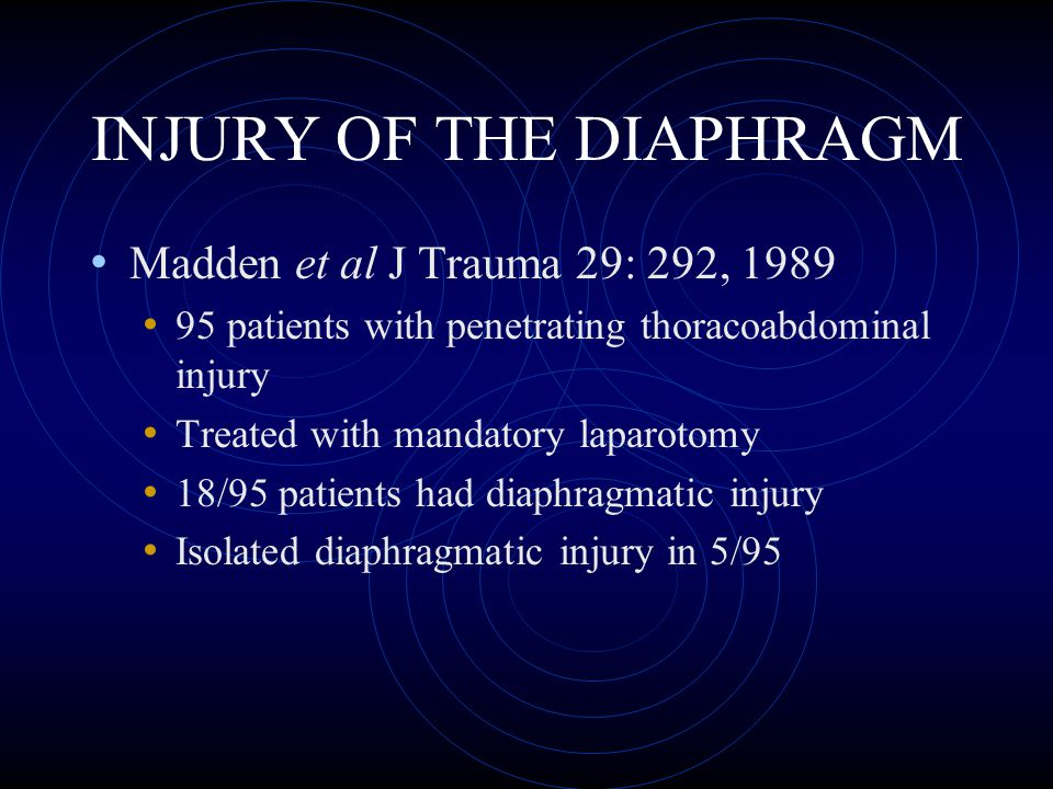 INJURY OF THE DIAPHRAGM