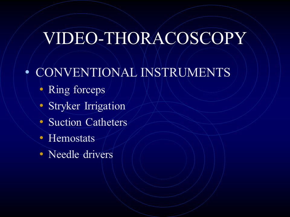 VIDEO-THORACOSCOPY CONVENTIONAL INSTRUMENTS Ring forceps