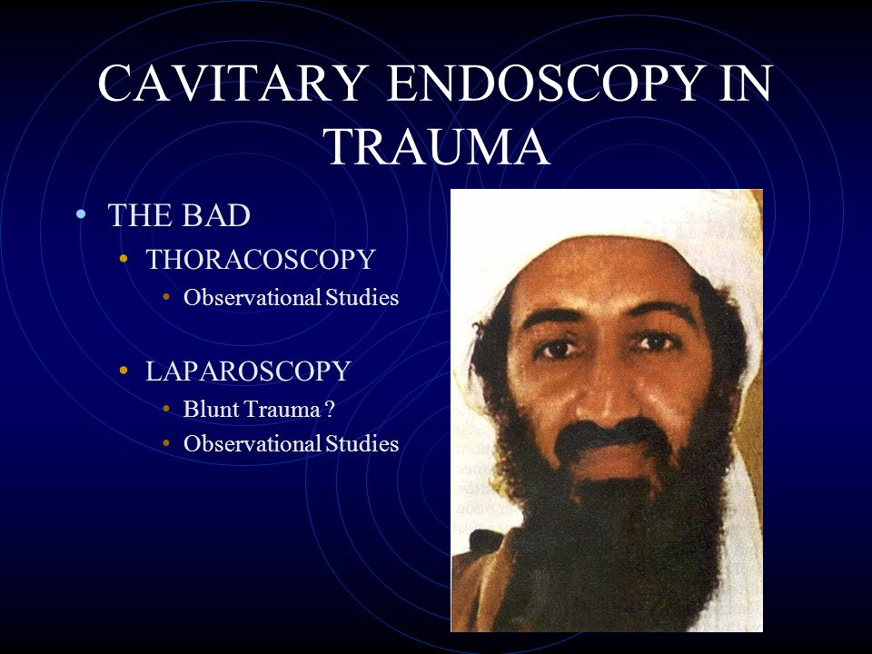 CAVITARY ENDOSCOPY IN TRAUMA