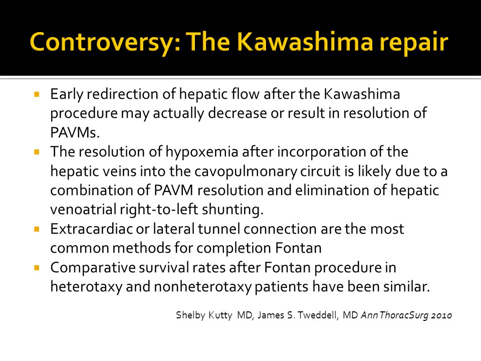 Controversy: The Kawashima repair