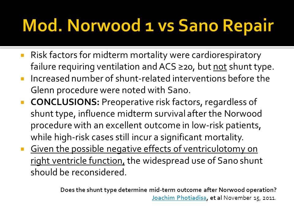 Mod. Norwood 1 vs Sano Repair