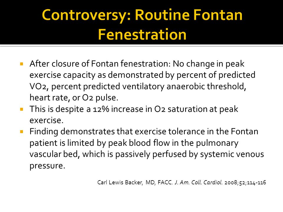 Controversy: Routine Fontan Fenestration