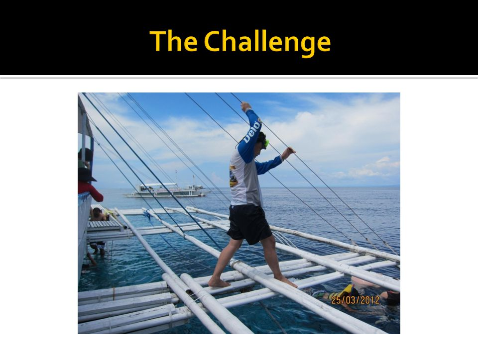 The Challenge We are learning the ropes