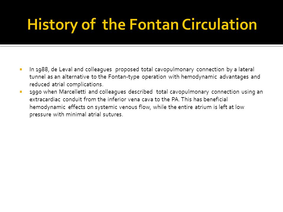 History of the Fontan Circulation
