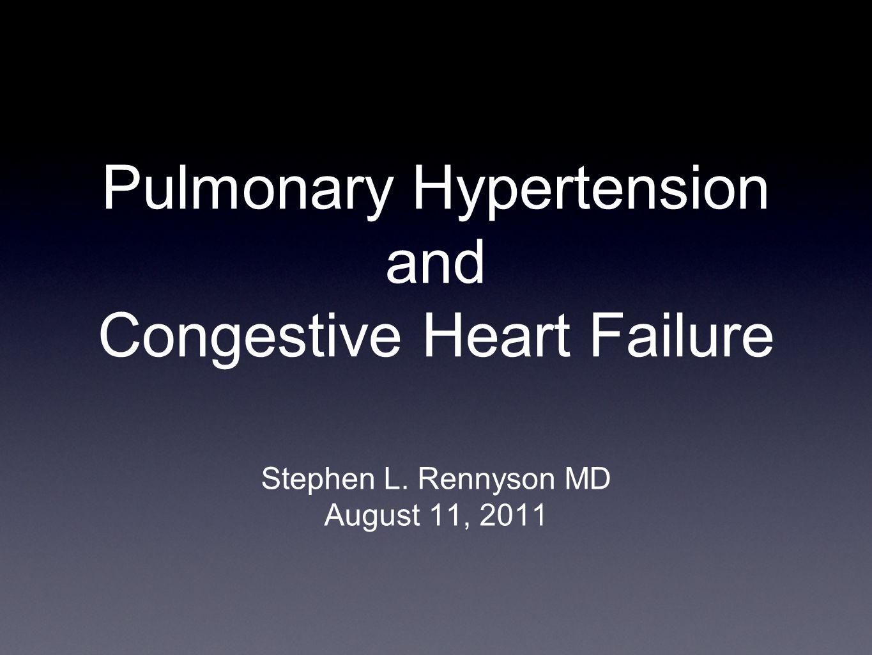 Pulmonary Hypertension and Congestive Heart Failure