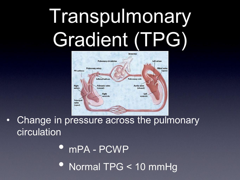 Transpulmonary Gradient (TPG)