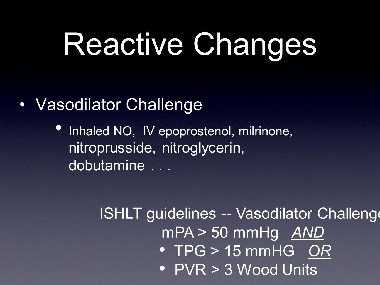 ISHLT guidelines -- Vasodilator Challenge