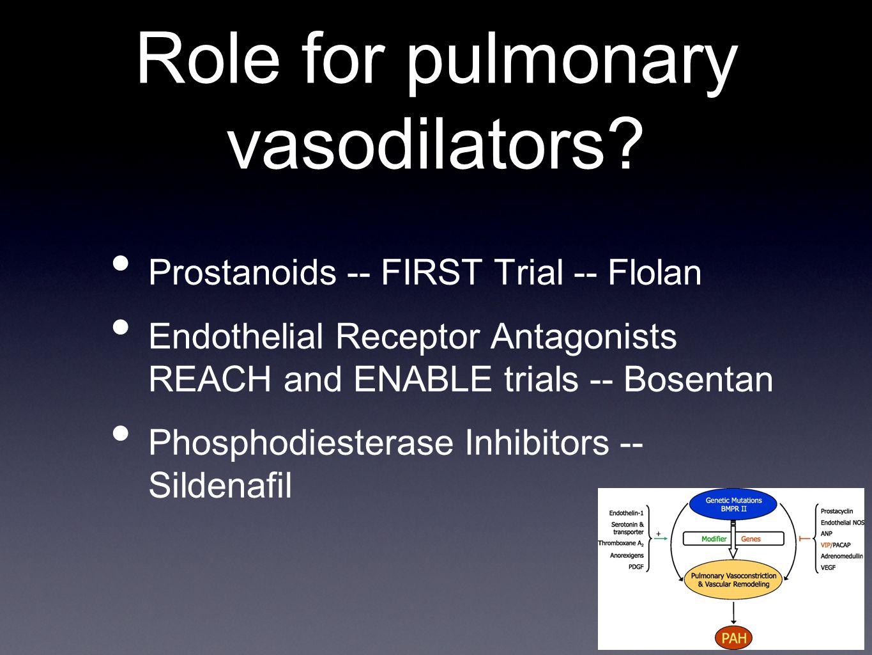 Role for pulmonary vasodilators