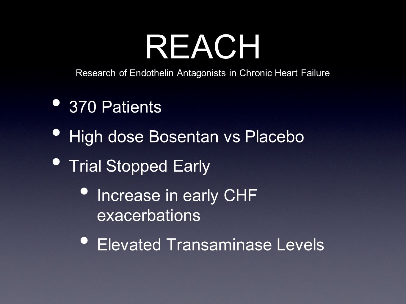 Research of Endothelin Antagonists in Chronic Heart Failure