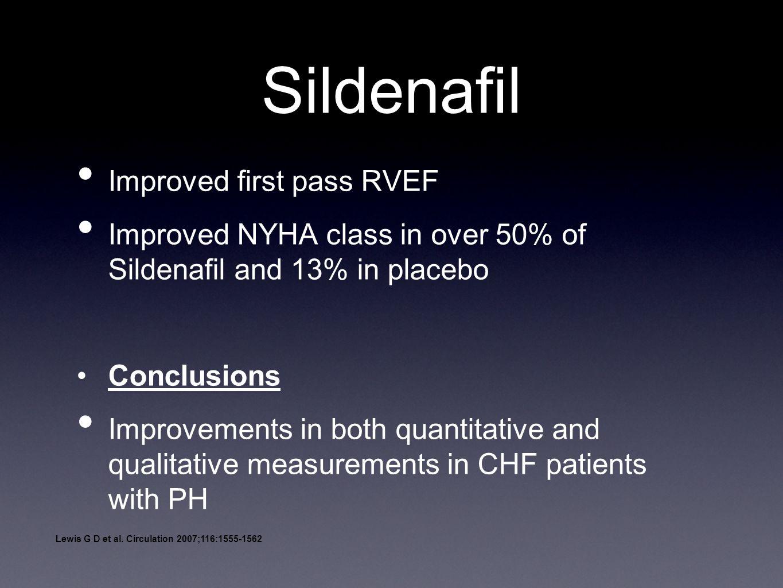 Sildenafil Improved first pass RVEF