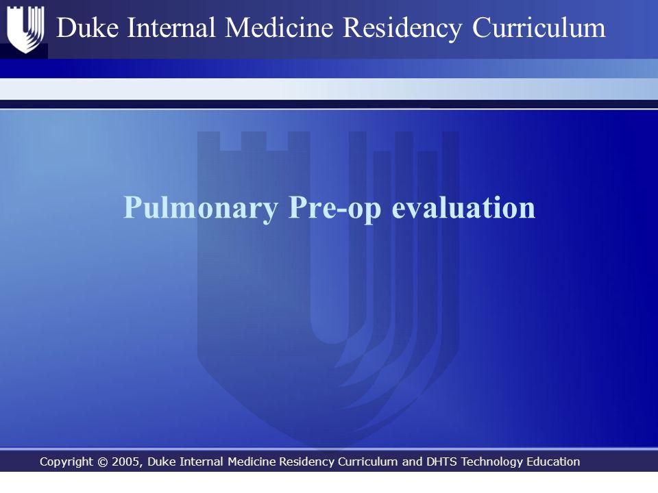 Pulmonary Pre-op evaluation