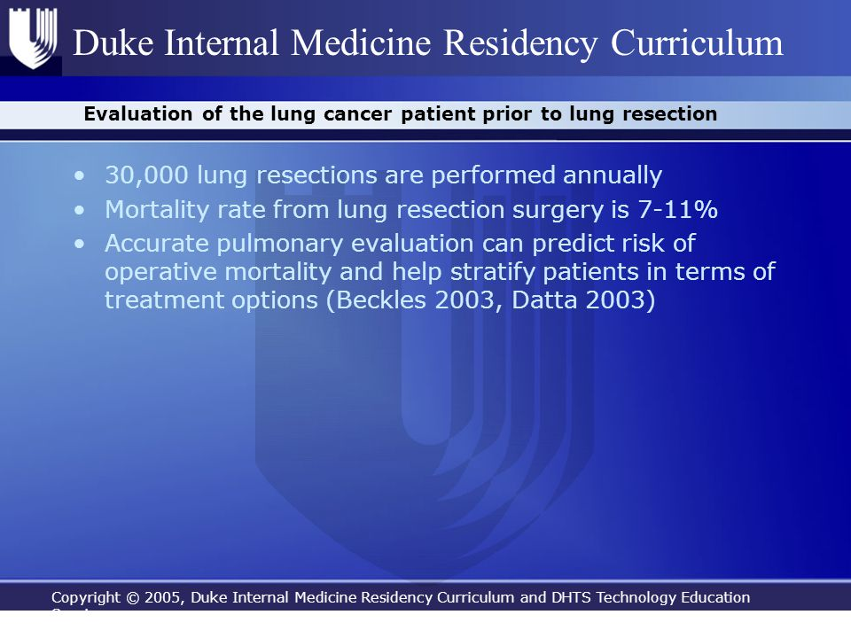 Evaluation of the lung cancer patient prior to lung resection