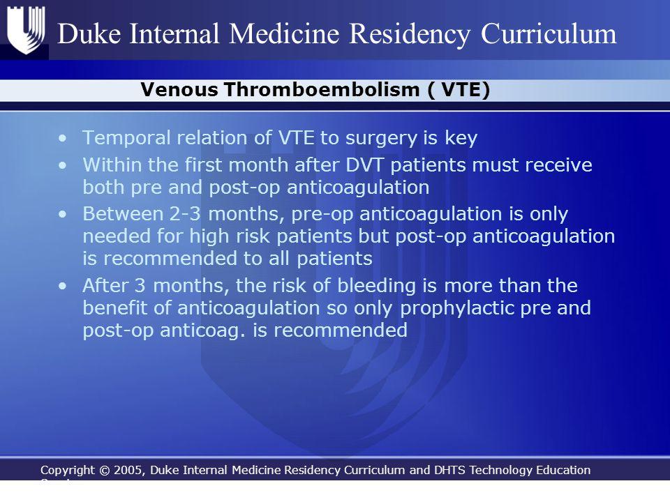 Venous Thromboembolism ( VTE)