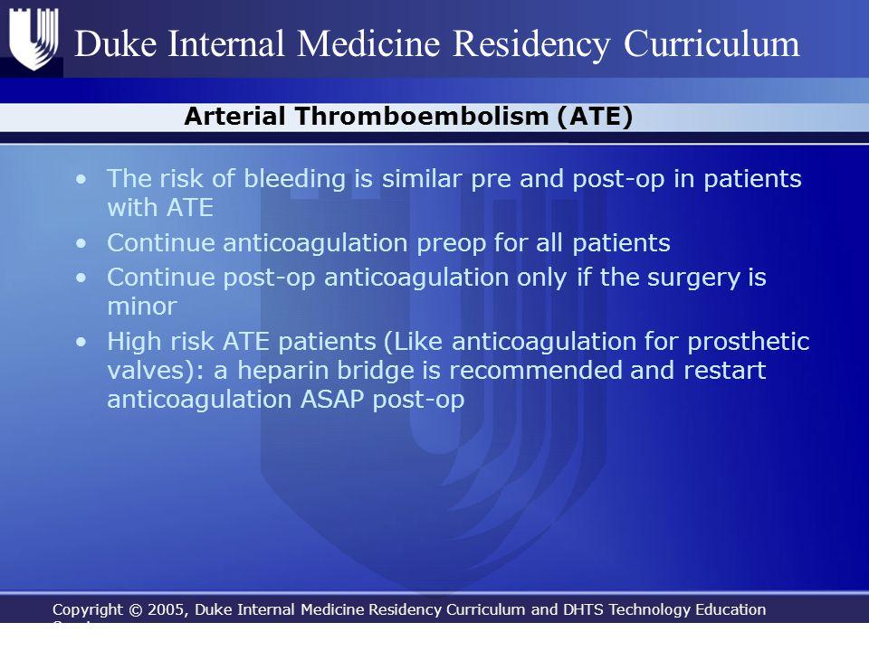 Arterial Thromboembolism (ATE)